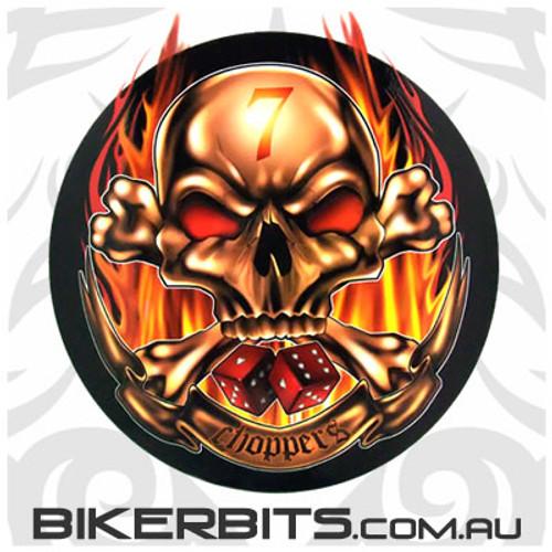 Biker Decal - Lucky 7 Choppers