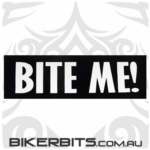 Helmet Sticker - Bite Me!