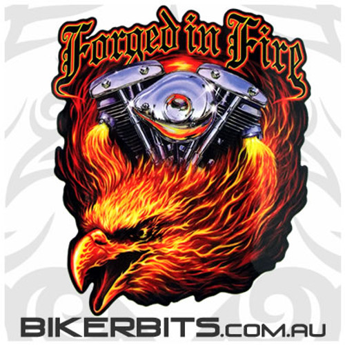 Biker Decal - Forged in Fire