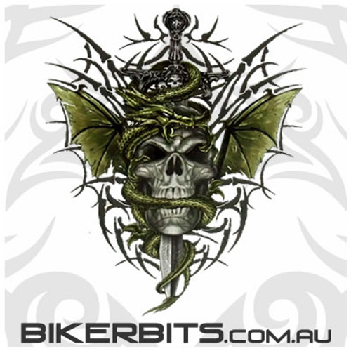Biker Decal - Gothic Skull