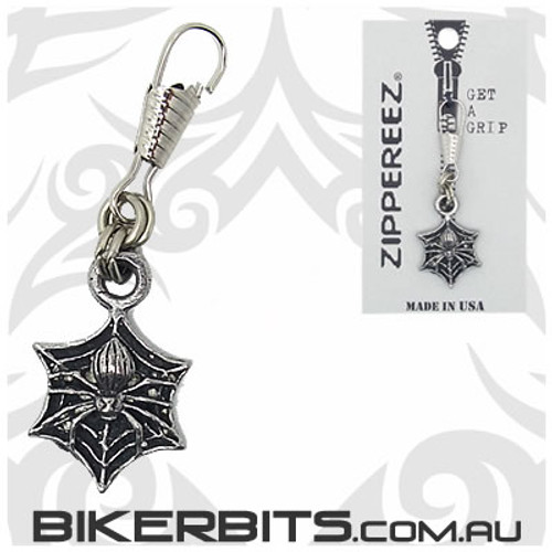 Zippereez Zipper Pull - Spider on Web