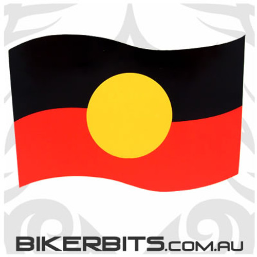 Biker Decal - Aboriginal Flag - Wavy