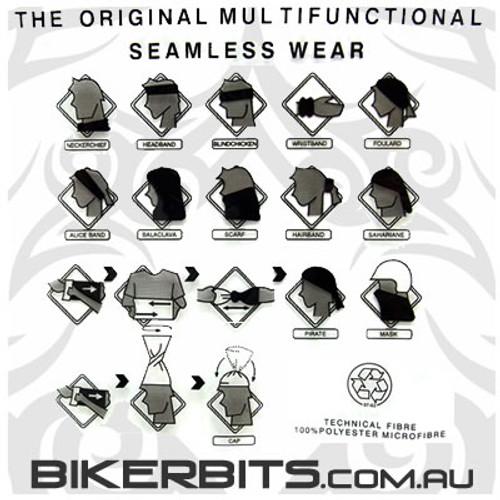 Headwear - Multifunctional Tube Scarf - The Black Side Skull