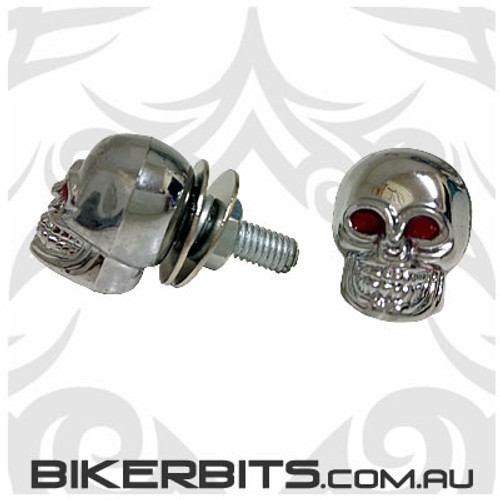 Number Plate Bolts - Skull