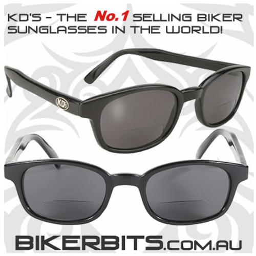 Motorcycle Sunglasses - KD's Bi-Focal Readerz - Smoke - 1.75
