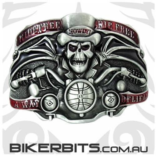 Belt Buckle - Ride Free Die Free