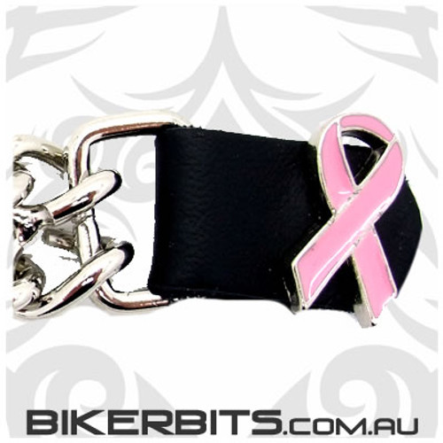 Vest Extender with Chains 4 inch - Pink Ribbon