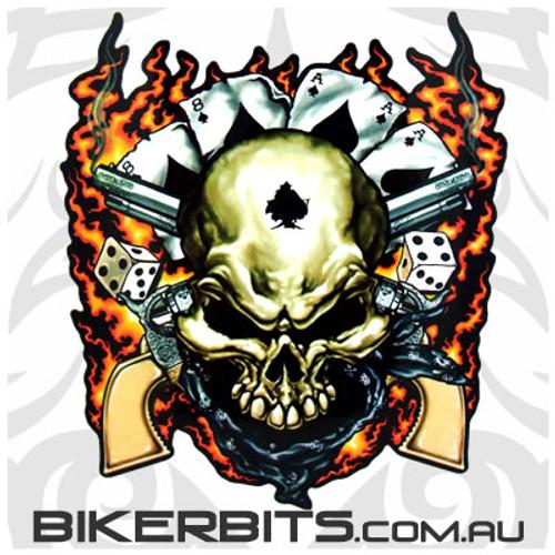 Biker Decal - Dead Mans Hand