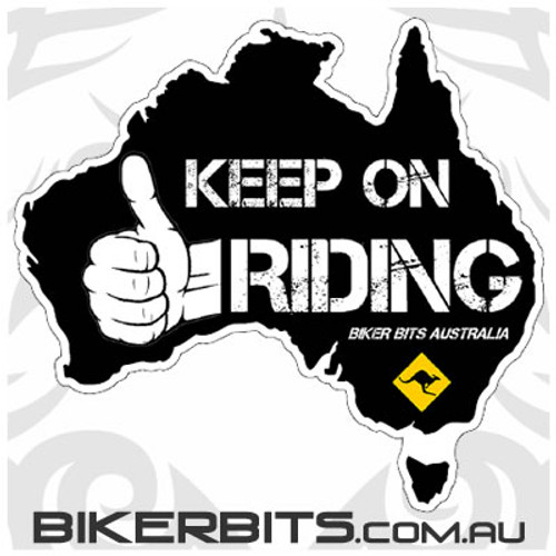 Biker Decal - Keep On Riding