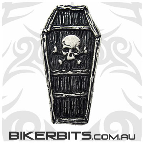 Lapel Pin - Coffin - Skull & Crossbones