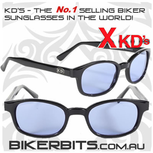 Motorcycle Sunglasses - X KD's Black - Blue
