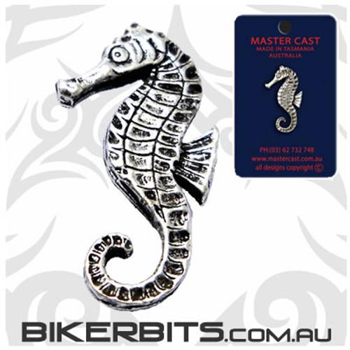 Lapel Pin - Seahorse - Pewter