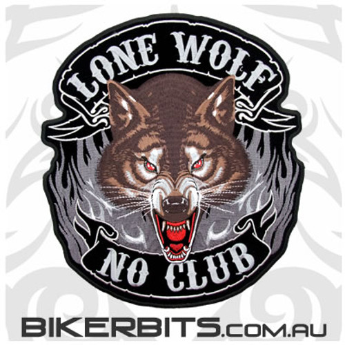 Patch - Lone Wolf - No Club - Large