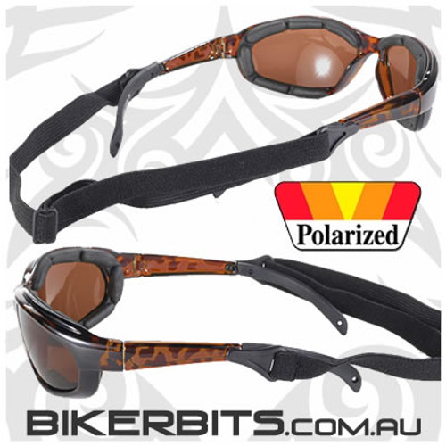 Motorcycle Sunglasses - Freedom Polarized Brown/Tortoise