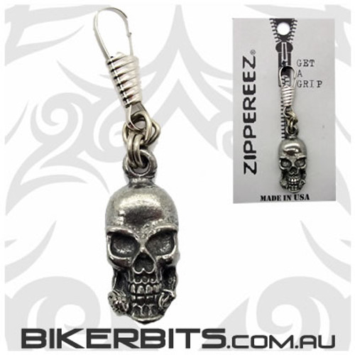 Zippereez Zipper Pull - Skull with Rose