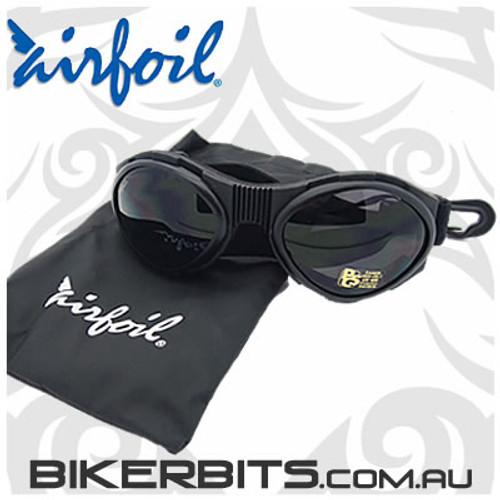 Motorcycle Sunglasses/Goggles - Airfoils - 7800 Smoke