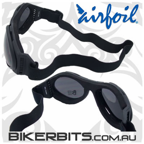 Motorcycle Sunglasses/Goggles - Airfoils - 7800 Smoke