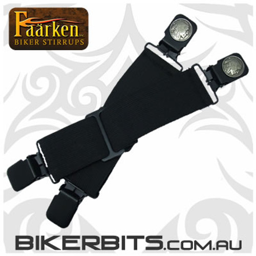 Faarken Biker Stirrups - Indian Head Nickel
