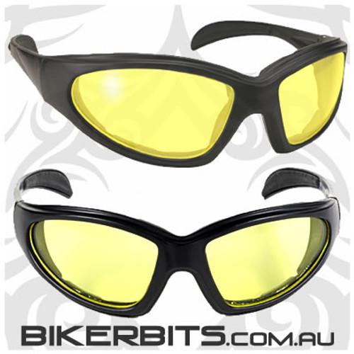 Motorcycle Sunglasses - Chopper - Yellow