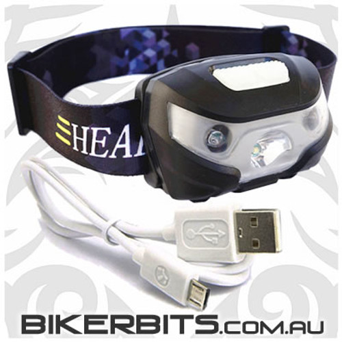LED Headlamp - USB Rechargable