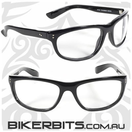 Motorcycle Sunglasses - Dirty Harry - Clear