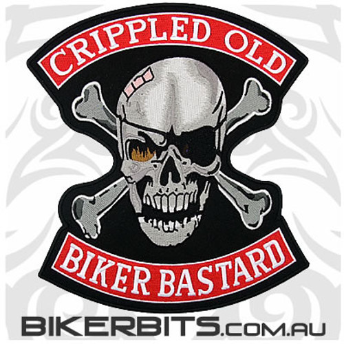 Patch - Crippled Old Biker Bastards - Large