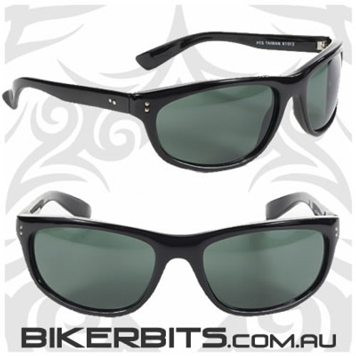 Motorcycle Sunglasses - Dirty Harry - G-15 Grey/Black