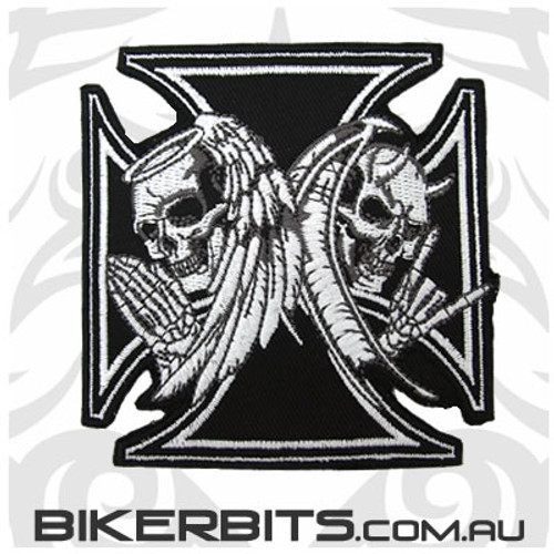 Patch - Angel & Devil Skulls