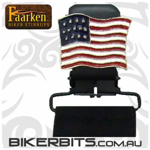 Faarken Biker Stirrups - American Flag