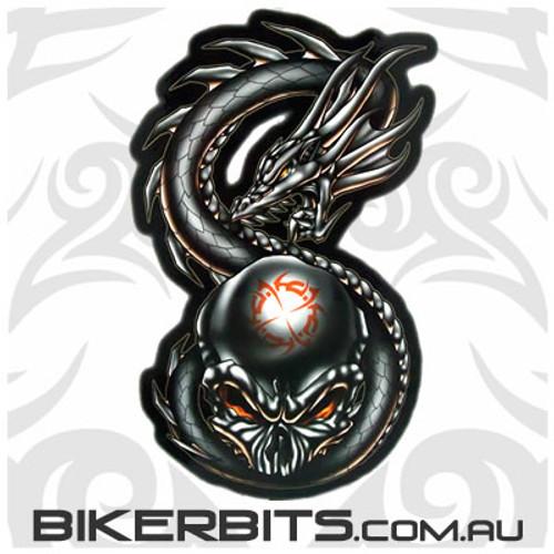 Biker Decal - Wrath - Skull & Dragon
