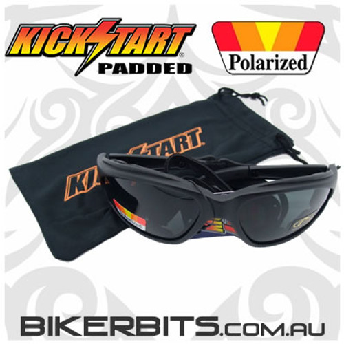 Motorcycle Sunglasses - Freedom Polarized Grey/Black