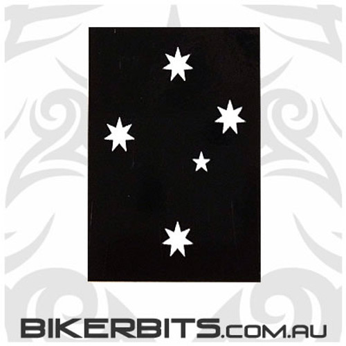 Biker Decal - Black Southern Cross