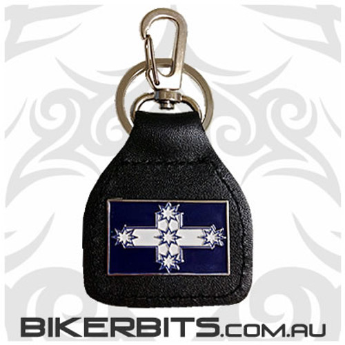 Keyring - Eureka Flag Leather Key Fob
