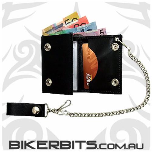 Biker Wallet - 4 inch Trifold - Studded
