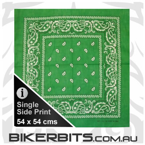Headwear - Bandana - Bright Green Paisley