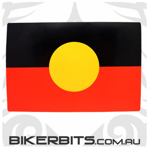 Biker Decal - Aboriginal Flag
