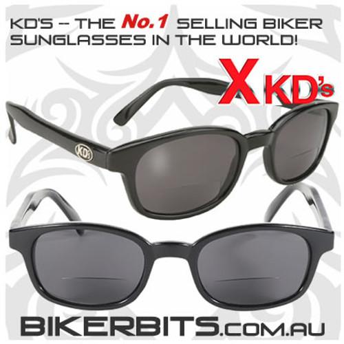 Motorcycle Sunglasses - X KD's Readerz - Smoke - 2.25
