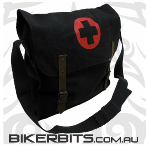 Nato Medic Bag - Black With Red Cross