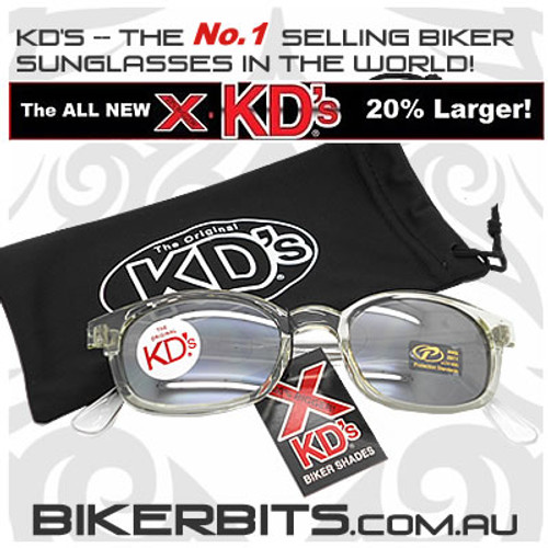 Motorcycle Sunglasses - X KD's Chill - Silver Mirror