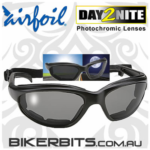 Motorcycle Sunglasses - Airfoils - 4311 Day2Nite/Black