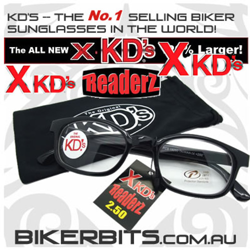 Motorcycle Sunglasses - X KD's Readerz - Clear - 2.50