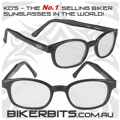 Motorcycle Sunglasses - X KD's Matte Black - Clear