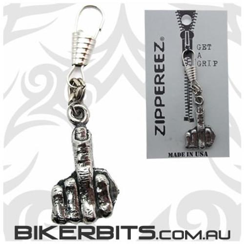 Zippereez Zipper Pull - Flipping The Bird