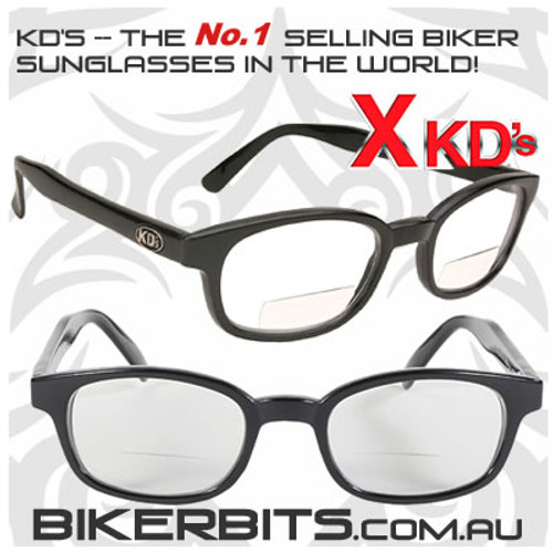 Motorcycle Sunglasses - X KD's Readerz - Clear - 1.75