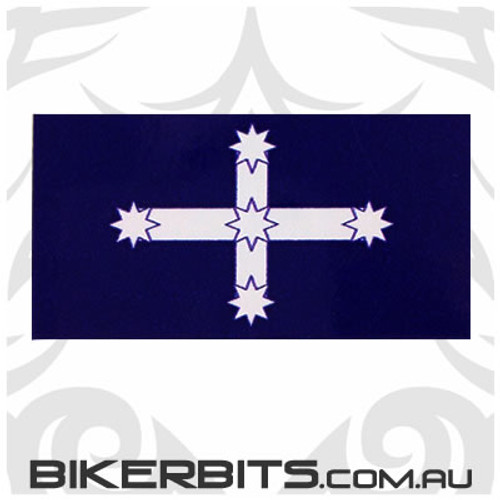 Biker Decal - Eureka Flag - 80mm