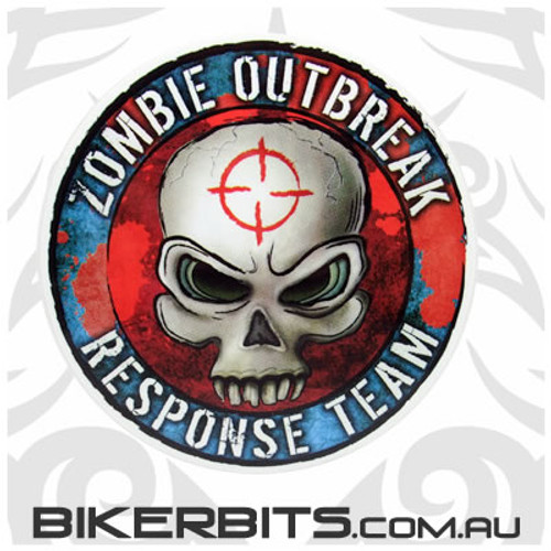 Biker Decal - Zombie Outbreak Response Team