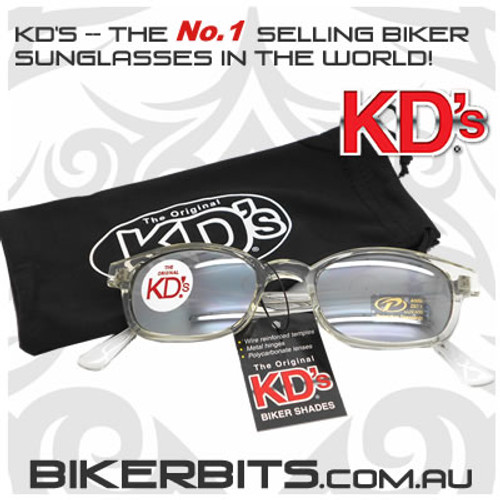 Motorcycle Sunglasses - KD's Chill - Silver Mirror