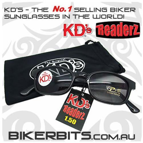 Motorcycle Sunglasses - KD's Bi-Focal Readerz - Smoke - 1.50