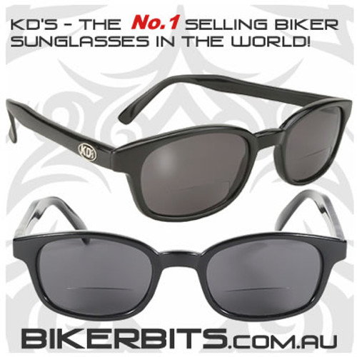 Motorcycle Sunglasses - KD's Readerz - Smoke - 1.50