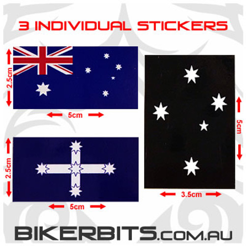 Biker Decal - Aussie Set